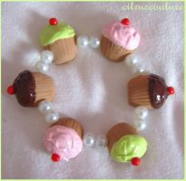 cupcake pearl bracelet by citruscouture