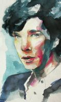 Sherlock Watercolor by chunkymacaroni