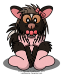 Baby Skunk in Pink by LordDominic