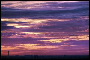 sunrise over Bangkok airport (DSC05112 a7R) by ookamedias