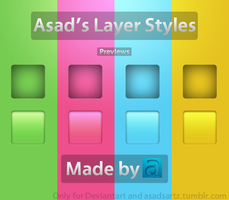 Asad's Layer Styles Set 1 by Coolboyasad12