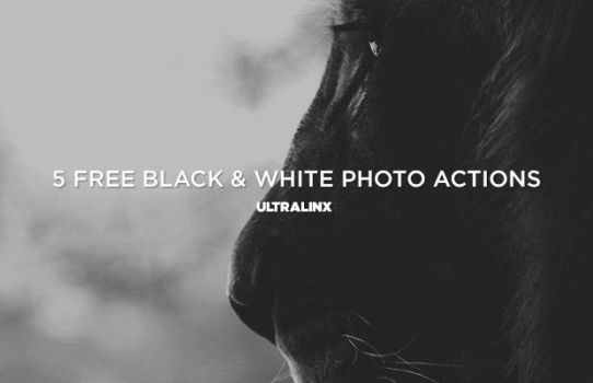 Free Black And White Photo Actions Set by TheUltraLinx