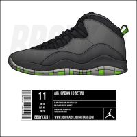 Air Jordan 10 'Cool Grey' by BBoyKai91