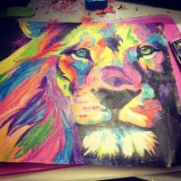 Lion by pandahipster