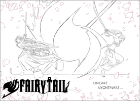 Lineart Fairy Tail -erza- by Dark-nyghtmare