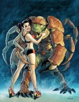 Girl and Crab Man by serge-fiedos