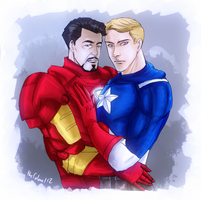 Tony/Steve by ColAutumnsOvercoat