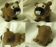 Bidoof Plushie Commission by Glacdeas