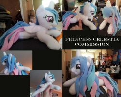 Mini Shoulder Celestia Commission by LilWolfStudios