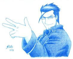 FMA sketches 04 - Maes Hughes by skycat