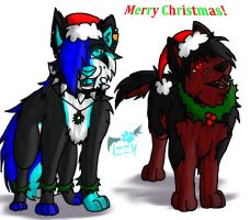 Smile dog and Ocean Merry Christmas by RadioactiveWolf36