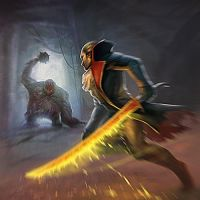 Request to p3 weapon:Flaming blade by SabrinaGallowix