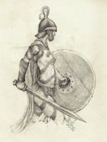 A celtic warrioress by MacAulish