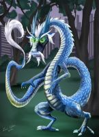Grandfather in Dragon Form by LMColver