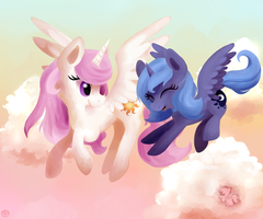 Flying Together (Family Fun Contest Entry) by Gingersnaap