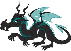 Proditor the Dragon Changeling by TheShadowStone