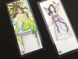 Green magic and the music fairy bookmarks by NewEmma