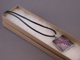 Purple Fan Choker by ErrantDreams