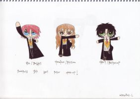 puffed up potter trio by Mysterious-L