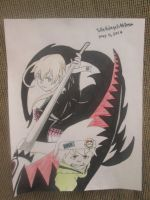 Soul Eater Evans and Maka Albarn by PathOfMyOwn