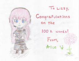 Congratulations Lizzy! by writeacrossme