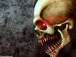 vampiric skull for hell by archhellshadow