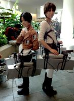 Levi and Eren Yeager Cosplay by TenTen143