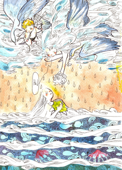cloud and sea by amtami1995