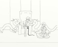 The Prince and His Dog-lineart- by Insanity-is-who-I-am