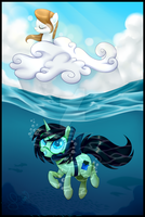 GIFT: A Day in The Sea by Azure-Art-Wave