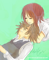 Sora + Kairi .::Rest::. by Kite-Mitiko