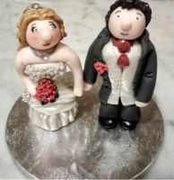 Wedding Toppers - Polymer Clay by tyney123