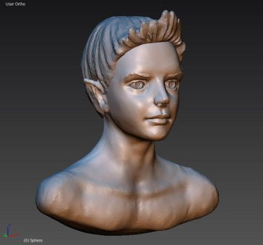 Young elf (Wip) by IcedWingsArt