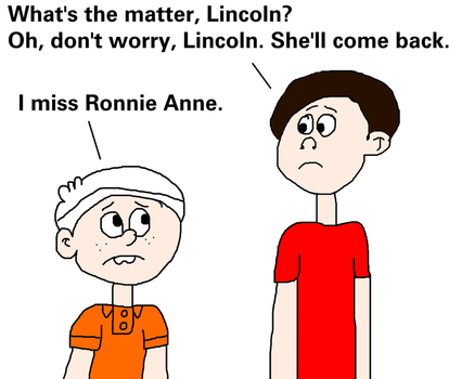 Lincoln Told Alan that He Misses Ronnie Anne by MikeEddyAdmirer89