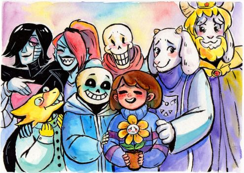 Undertale - all together by Yodeki