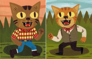 Lumberjack Cat and Gypsy Cat by Teagle