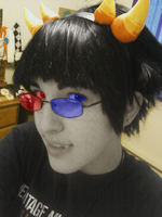 Sollux horn and wig test by littlehowlbeast