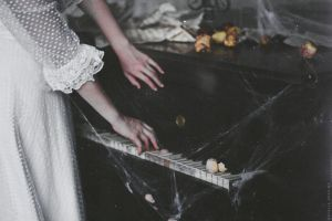 The story about the dim light and old piano by NataliaDrepina