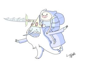 Eats My Sword Ice King by LoniganTheDragon