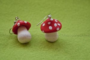 Fimo earrings by MissLoony