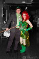 Riddler and Poison Ivy cosplay by MidnightSkyPhoto