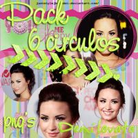 Pack 6 circulos de Demi lovato png by polybieber