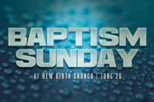Baptism Sunday Church Postcard Template by loswl