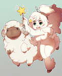Claire and Sheep-a-pillar by HEARTZMD