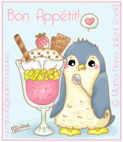 Cute IceCream Penguin :3 by yuki-the-vampire