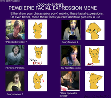 PewDiePie Facial Expressions Meme: Deku Cat by iNsAnItY-Wolf-Cry