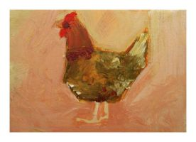Little Paintings - Chicken by Duffzilla