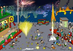 Philippine New Year's Eve Celebration by Dinuguan