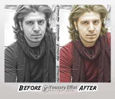 Kammah Coloring before and after by yousssry