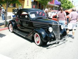 1936 Ford Coupe-Little Black Dress with Red Shoes by RoadTripDog